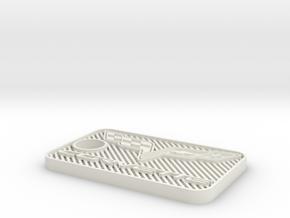 COL Keychain in White Natural Versatile Plastic