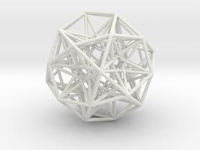 Sphere Small in White Natural Versatile Plastic