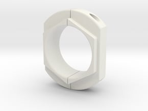 Axle clamp in White Natural Versatile Plastic