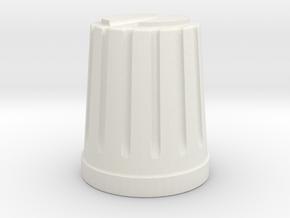knob in White Natural Versatile Plastic
