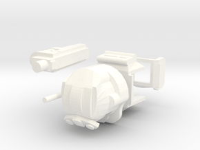Space Trooper Armor set in White Processed Versatile Plastic