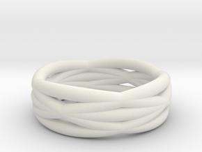 Infinity ring in White Natural Versatile Plastic