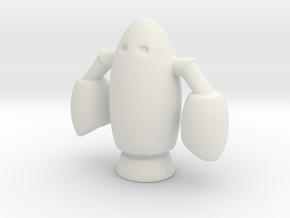 Rocket Bot Stellar Robot in White Natural Versatile Plastic