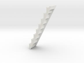 Attic Staircase in White Natural Versatile Plastic