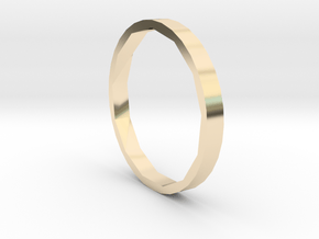 Square One - Sz. 5 in 14K Yellow Gold