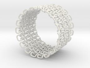 Stitch Bracelet - Large in White Natural Versatile Plastic