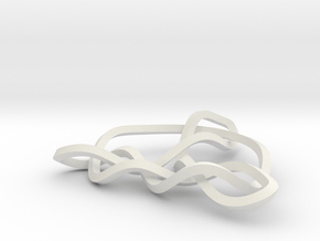 3D Trinity Knot in White Natural Versatile Plastic