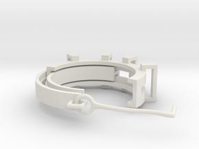 Earring ring in White Natural Versatile Plastic