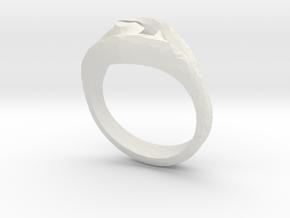 Ring4 in White Natural Versatile Plastic