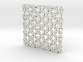 Square Maille - Flat N sampler in White Natural Versatile Plastic