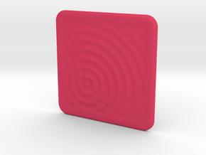 Plastic Coaster: Water Ripples 1 in Pink Processed Versatile Plastic