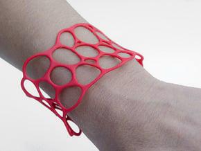 BRACELET Voronoi III in Red Processed Versatile Plastic