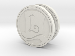 Layton Hat Coin in White Natural Versatile Plastic