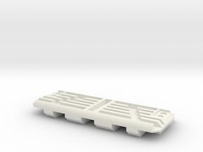 Tank Tread in White Natural Versatile Plastic