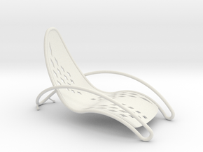 Swoop Chair in White Natural Versatile Plastic