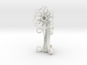Spring Flower in White Natural Versatile Plastic