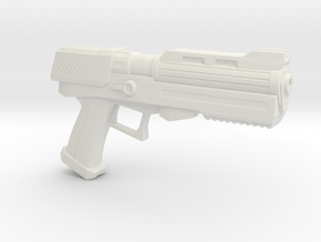 Heavy Plasma Pistol in White Natural Versatile Plastic