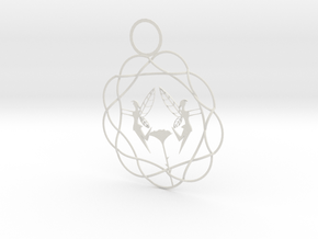 Flower Fairy's Endless Knot Ornament in White Natural Versatile Plastic