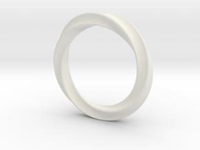 Twisted bracelet in White Natural Versatile Plastic