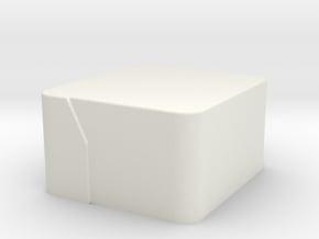 Pepper Grater_Collector Chamfer in White Natural Versatile Plastic