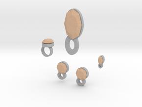 Lara Apricot Delight Jewelry Set in Full Color Sandstone