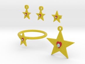 Heart Of The Star Jewelry Set in Full Color Sandstone