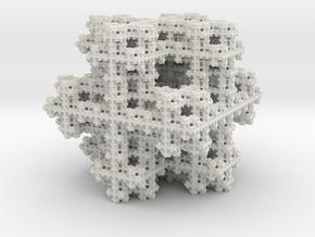 Koch Snowflake sponge in White Natural Versatile Plastic