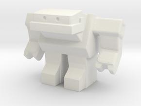 Robot 0034 Jaw Bot v5 in White Natural Versatile Plastic