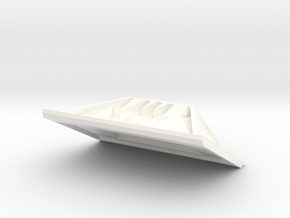 Front Plate in White Processed Versatile Plastic