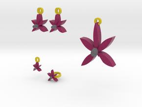 Violet Flower jewelry set in Full Color Sandstone
