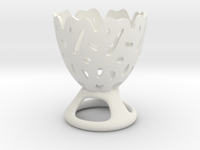 Decorative Eggcup in White Natural Versatile Plastic
