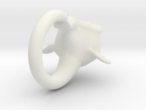 BlenderMonkeyRing in White Natural Versatile Plastic