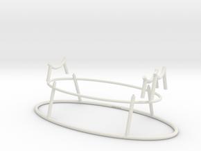 Adjustable Saber Hilt Stand in White Natural Versatile Plastic