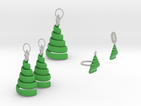 Xmas Swirl Tree Jewelry Set in Full Color Sandstone