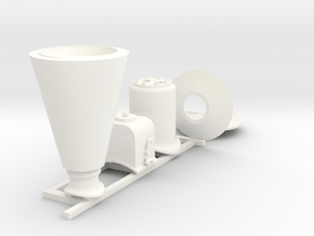"""1:13.7 (7/8"""") O&K Fittings in White Processed Versatile Plastic"""