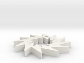 Saw Blade Pendant #2 in White Natural Versatile Plastic