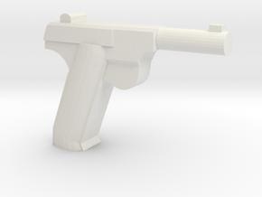 High Power HDM Pistol in White Natural Versatile Plastic