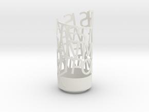 Light Poem in White Natural Versatile Plastic