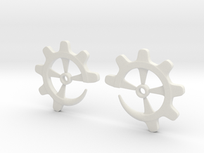 Gear-ring 6g in White Natural Versatile Plastic