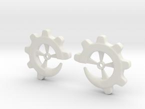 Gear-ring 0g in White Natural Versatile Plastic