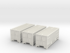 3x 20ft Manchester Binliner Containers N Gauge in White Natural Versatile Plastic
