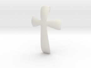 basic CROSS pendant in White Natural Versatile Plastic