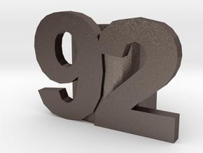 92slide optimized for Metal in Polished Bronzed Silver Steel