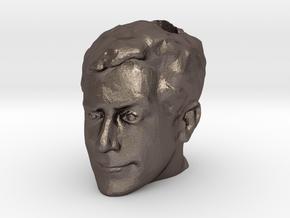 Colbert Head Slide in Polished Bronzed Silver Steel