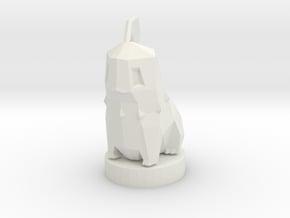 Chikorita With Stand in White Natural Versatile Plastic