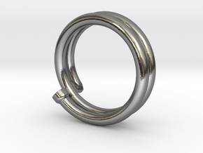 Finishing Nail Ring in Polished Silver