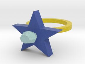 Blue  Pimpernel Ring in Full Color Sandstone