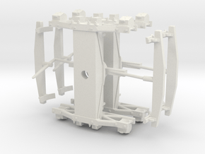 """Swing Motion Truck S Scale - 1.27"""" axle in White Natural Versatile Plastic"""
