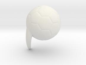 football mod in White Natural Versatile Plastic