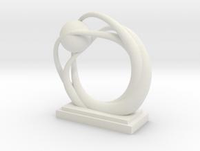 Ring Statue in White Natural Versatile Plastic